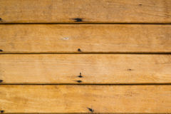 Parete di legno di Brown Immagine Stock