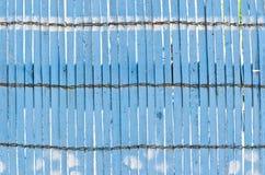 Parete blu di legno di colore Immagini Stock Libere da Diritti