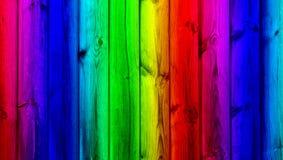 Parete di legno di colore di Candy Fotografie Stock Libere da Diritti