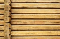 Parete di legno di un loghouse Fotografie Stock Libere da Diritti