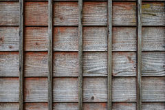 Parete di legno di una casa tradizionale giapponese Immagini Stock Libere da Diritti