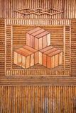 Parete di legno elegante della piccola casa dell'azienda agricola della riva del fiume di Ergun Fotografia Stock