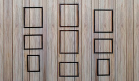 Parete di legno isolata del fondo della cornice Fotografia Stock Libera da Diritti