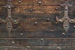 Parete di legno medievale della casa sul Ponte Vecchio in Floren Fotografia Stock