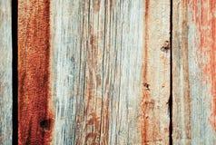 Parete di legno misera colorata Immagini Stock