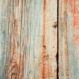 Parete di legno misera colorata Fotografie Stock Libere da Diritti