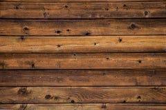 Parete di legno orizzontale Fotografie Stock