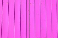 Parete di legno recentemente dipinta Immagini Stock Libere da Diritti