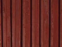 Parete di legno rossa Immagine Stock