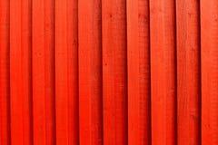 Parete di legno rossa Fotografie Stock Libere da Diritti