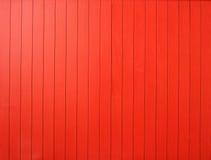 Parete di legno rossa Immagini Stock