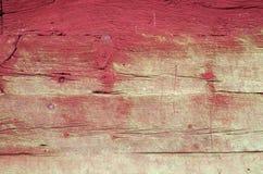 Parete di legno rossa invecchiata Immagini Stock Libere da Diritti