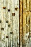 Parete di legno spinosa strutturata Immagine Stock