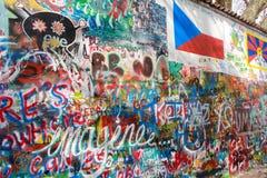Parete di Lennon in Prag Fotografia Stock Libera da Diritti