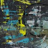 parete di lerciume dei graffiti 3d con la testa nascosta Immagine Stock