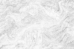 Parete di marmo bianca astratta di struttura del modello di onda Fotografie Stock Libere da Diritti