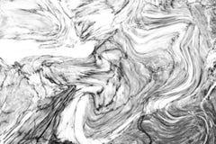 Parete di marmo bianca astratta di struttura del modello di onda per il DES interno Fotografie Stock Libere da Diritti