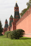 Parete di Mosca Kremlin Fotografia Stock