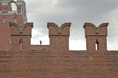 Parete di Mosca Kremlin immagini stock