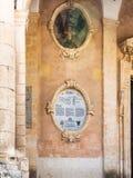 Parete di municipio di Palazzo Ducezio nella città di Noto Fotografie Stock