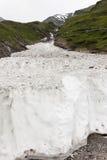 Parete di neve in valle di Koednitz, Austria Fotografie Stock