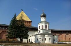 Parete di Novgorod Kremlin Fotografia Stock Libera da Diritti