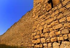 Parete di pietra al tramonto Fotografia Stock Libera da Diritti