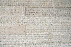 Parete di pietra artificiale beige Fotografia Stock Libera da Diritti