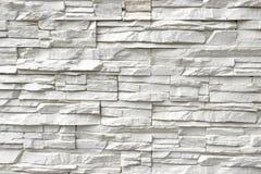 Parete di pietra artificiale bianca Fotografia Stock Libera da Diritti