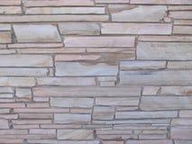 Parete di pietra Blocky con le pietre delle dimensioni differenti 4 immagine stock libera da diritti