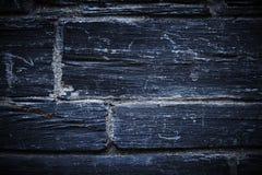 Parete di pietra blu Fotografia Stock