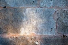 Parete di pietra con sole per fondo Fotografia Stock Libera da Diritti