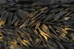 Parete di pietra in Croazia Fotografia Stock