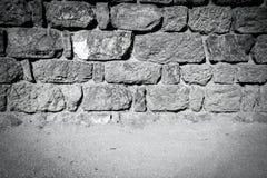 Parete di pietra d'annata e pavimento Immagine Stock