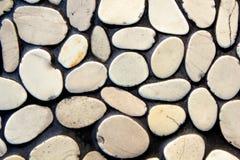 Parete di pietra del ciottolo Fotografie Stock Libere da Diritti
