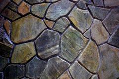 Parete di pietra del mosaico Fotografia Stock Libera da Diritti