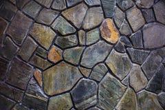 Parete di pietra del mosaico Fotografia Stock