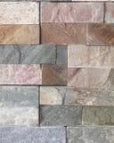 parete di pietra, pietra dell'origine differente, struttura Immagini Stock Libere da Diritti