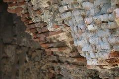 Parete di pietra della fortezza nella fortezza di Narikala nella capitale georgiana fotografia stock libera da diritti
