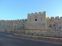 Parete di pietra della moschea di Al-Aqsa, Gerusalemme Fotografia Stock Libera da Diritti