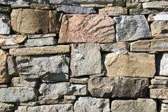 Parete di pietra della muratura Immagine Stock