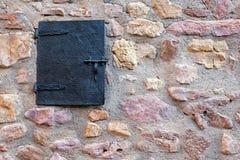 Parete di pietra e finestra Immagini Stock Libere da Diritti