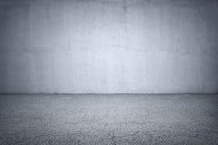 Parete di pietra e pavimento grigio Fotografia Stock