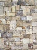 Parete di pietra geometrica decorativa Fotografia Stock