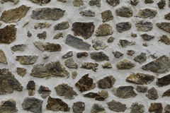 Parete di pietra grigia Fotografia Stock Libera da Diritti