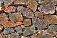 Parete di pietra I del quarzo irregolare Fotografia Stock Libera da Diritti