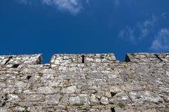 Parete di pietra medioevale di Tenby Immagini Stock