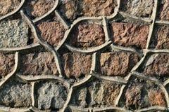 Parete di pietra Olden Immagini Stock