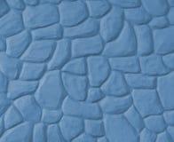 Parete di pietra ondulata (blu) Fotografia Stock