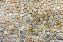 Parete di pietra rotonda difensiva Fotografia Stock